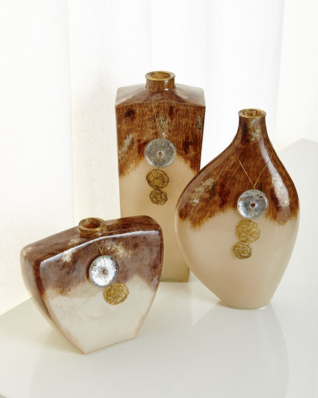 Vertical Terra Vase with Hanging Ornament