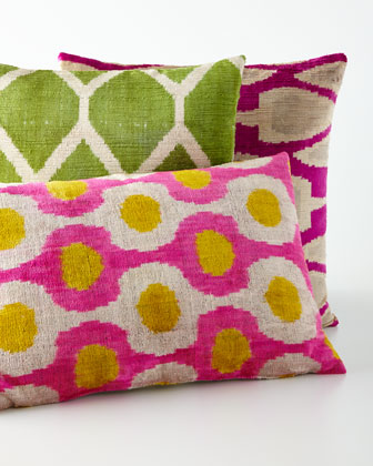 green silk velvet pillow 20