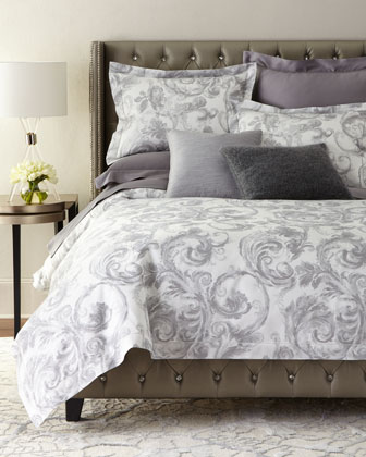 Gray Scroll Bedding