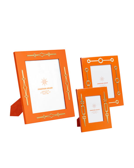 "Turner Lacquer Picture Frame, Orange, 8"" x 10"""