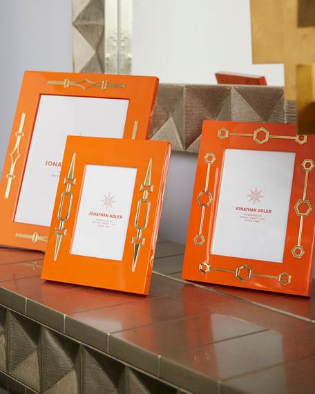 "Turner Lacquer Frame, Orange, 8"" x 10"""