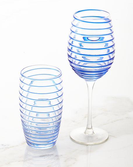 Spiral Wine Glasses, Set of 4