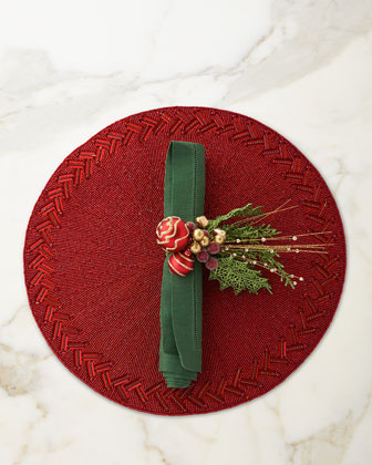 Hollyday Napkin Ring and Matching Items