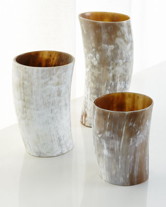 Horn Vase, Small  and Matching Items