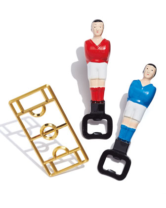 Foosball Bottle Opener, Blue and Matching Items