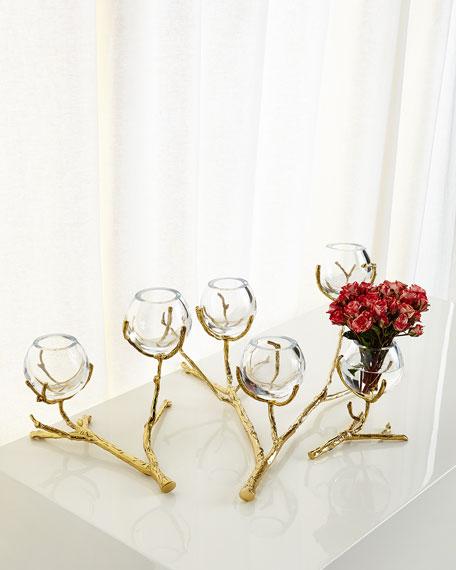 Twig Brass Vase Holder