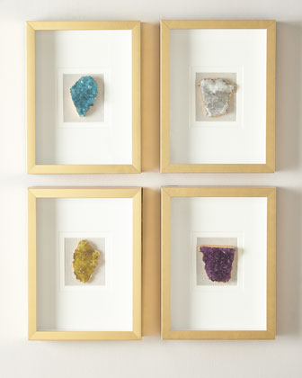 Natural Crystal in Golden Frame, Stormy White and Matching Items