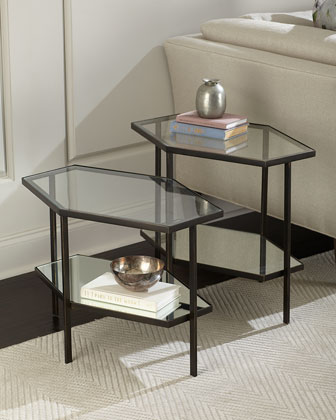 Fatima Tall Hexagon Side Table  and Matching Items