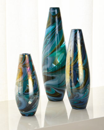 Large Chalcedony Vase and Matching Items