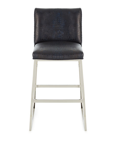 Adrift Leather Counter Stool