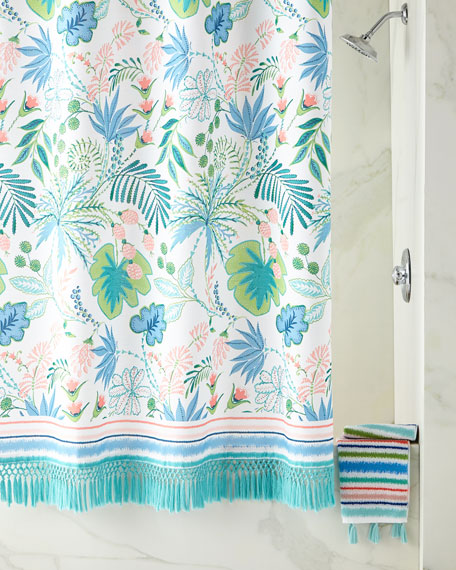 Shower Curtain with Tassels