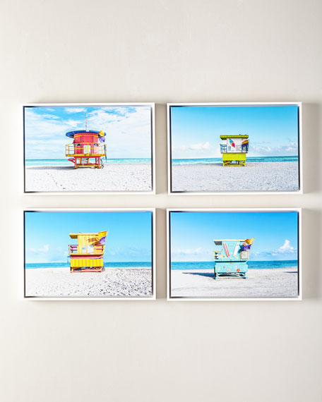 """Lifeguard Chair Keep Beach Clean Giclee, 24"""" x 16"""""""