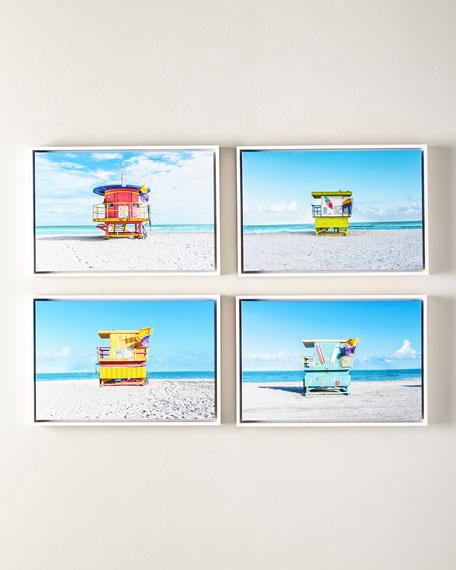 "Lifeguard Chair Keep Beach Clean Photography Giclee, 24"" x 16"""