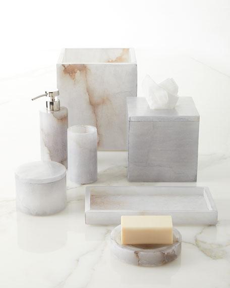 Alabaster Bath Accessory Lotion Dispenser