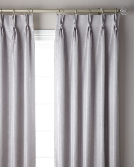 3-Fold Pinch Pleat Shimmer Curtain Panel, 108""