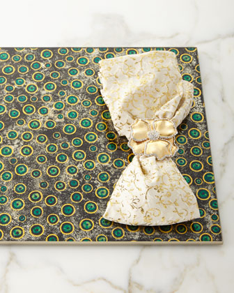 Floral Textured Napkin  Gold and Matching Items