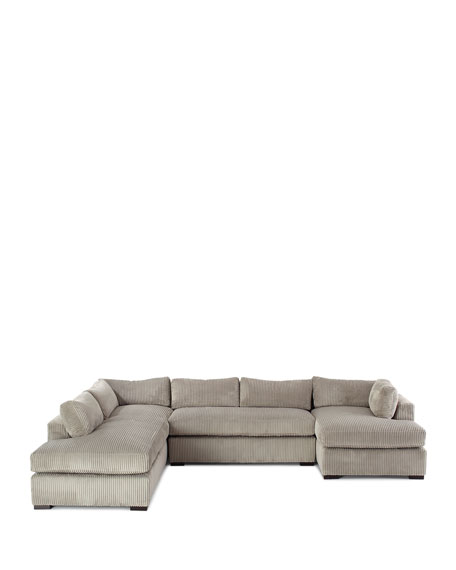 Mitchell Upholstered Sectional Sofa (Left Facing) 136.5""