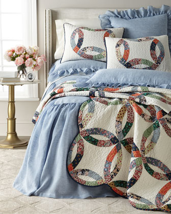 30L Queen Savannah Skirted Coverlet and Matching Items