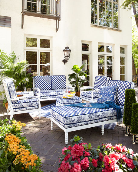 Indigo Villa Outdoor Chaise