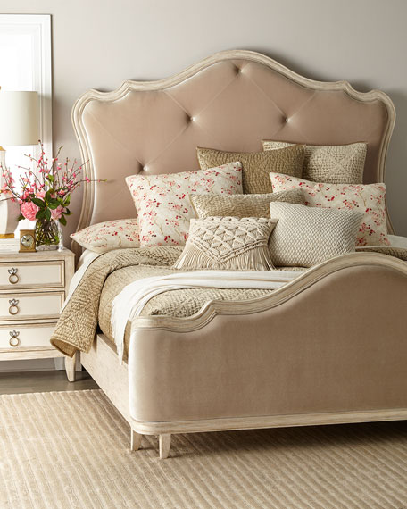 Genevieve Button-Tufted Queen Bed