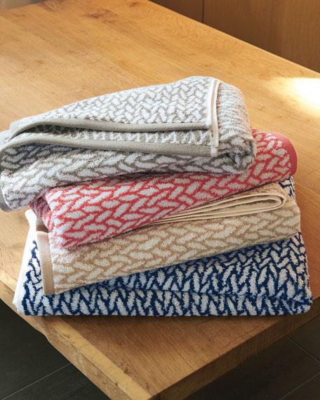 Sanders Basket Weave Washcloth
