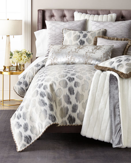 Faux Fur White Mink Throw
