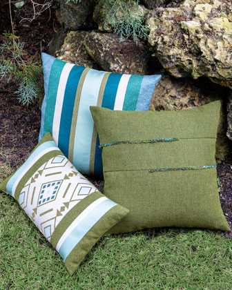 Cusco Lumbar Sunbrella Pillow  and Matching Items