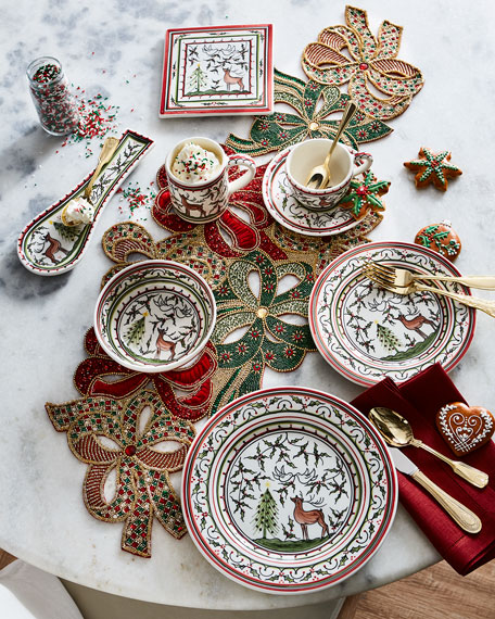 Christmas Pavoes Trivet