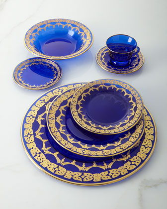 Blue Oro Bello Soup Plates  Set of 4 and Matching Items