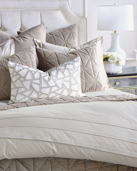 Nova King Quilted Velvet Coverlet