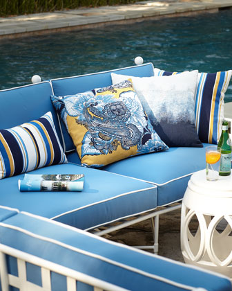 Harbor Stripe Indoor/Outdoor Lumbar Pillow and Matching Items
