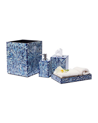 Blue Almendro Bath Tray  and Matching Items