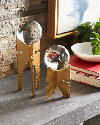 Small Gazing Ball with Stand  and Matching Items