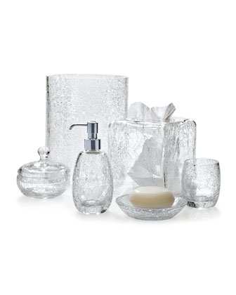 Carina Crackle Canister   and Matching Items