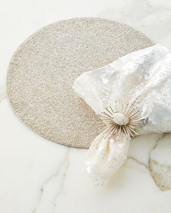 Metafoil Napkin  White/Silver  and Matching Items