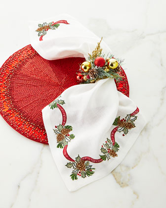 Holiday Bough Napkin  and Matching Items