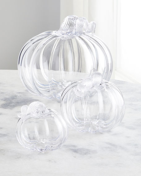 Small Glass Pumpkin with Twisted Stem