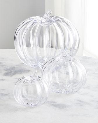 Medium Glass Pumpkin  and Matching Items