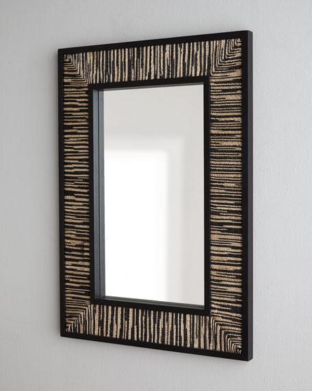 Black Weave Mirror