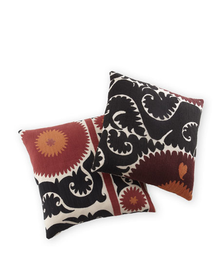 Dark Suzani Print Pillow