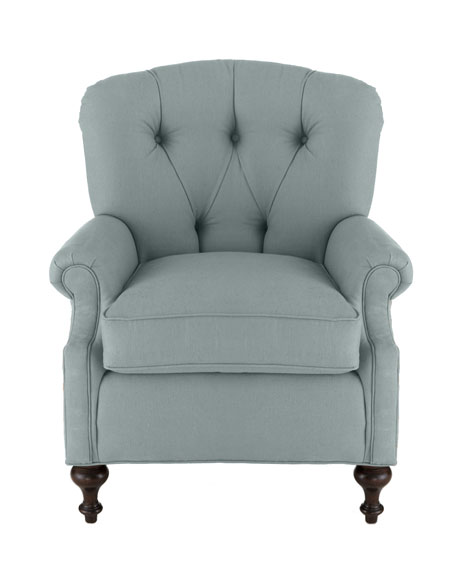 """Iva"" Tufted-Back Chair"