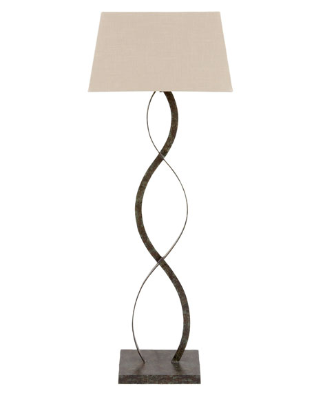 """Belmont Bronze Verdi"" Iron Floor Lamp"