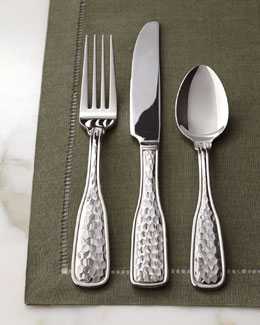 "45-Piece ""Country Hammered"" Flatware Service"