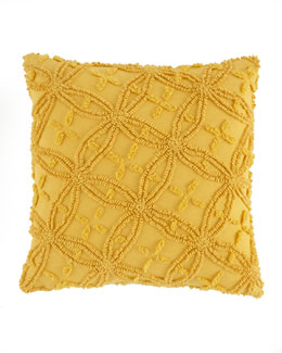 "Pine Cone Hill Curry Candlewick Pillow, 18""Sq."