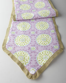 "French Laundry Home ""Pretty Purple"" Mosaic Table Runner"