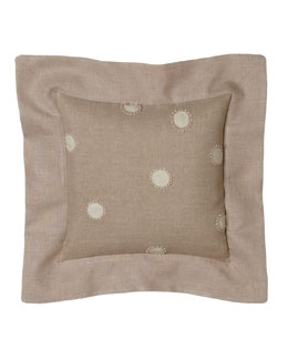 "Rose Tree Dotted Pillow w/ Flange, 12""Sq."
