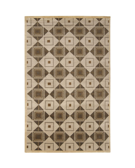 Mugal Diamond Rug, 9' x 13'