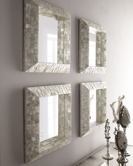 Capiz Framed Mirror