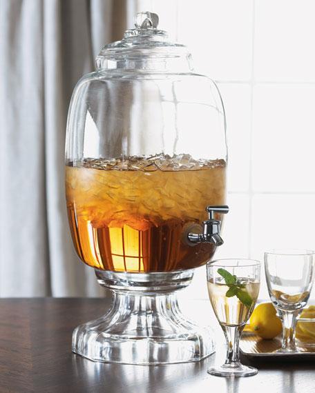 Clear Glass Beverage Server