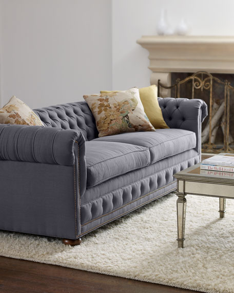 "Old Hickory Tannery ""Quinn"" Tufted Sofa"